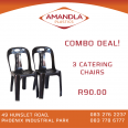 Catering Chairs. 3 for R90 - For Sale, Furniture & Household For Sale, Phoenix, KwaZulu-Natal