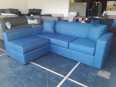 Navy blue extended armrest L-shaped daybed couch - For Sale, Furniture & Household For Sale, Bellville, Western Cape