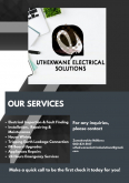 UThekwane Electrical Solutions Electrical Compliance Certificates, Electrical & Plumbing Services, Durban, KwaZulu-Natal