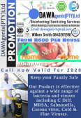 DAWAgenix(PTY)Ltd Disinfecting/Sanitizing services, Cleaning Service Office & Home, Pretoria North, Gauteng