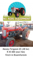 Massey Furgeson 65 Tractor For Sale, Farm & Industry Equip For Sale, Bloemfontein, Free State