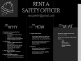 Rent A Safety Officer (Health and Safety Consultants) - We assist with all your Health and Safety needs., Other Services, strijdom park, Gauteng