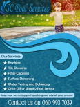 SC Pool Services - Swimming Pool Services, Gardening & Pool Care Services, Port Edward, KwaZulu-Natal