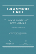 Barkah Accounting Services - Accounting & Tax Services, Accounting & Tax Services, Lenasia, Gauteng