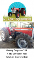 Massey Ferguson 399 Tractor For Sale, Farm & Industry Equip For Sale, Bloemfontein, Free State