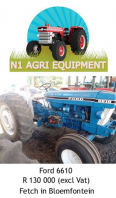 Ford 6610 Tractor For Sale, Farm & Industry Equip For Sale, Bloemfontein, Free State