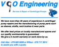 VCO Engineering Centrifugal Pump Repairs, Engineering Services, midvaal, Gauteng